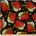 Sewing Seeds II Tomato Tag Patch Black