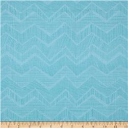 Timeless Treasures Owl Be Seeing You Abstract Chevron Aqua