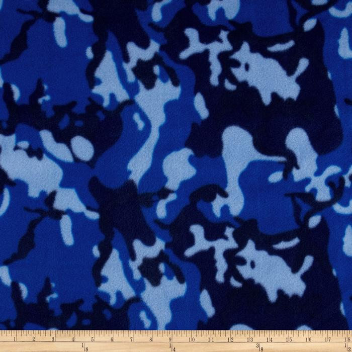 Fleece Camouflage Dark Blue