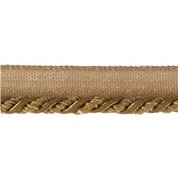 "Mariel 1/4"" Twisted Cord with Lip Trim Gold"