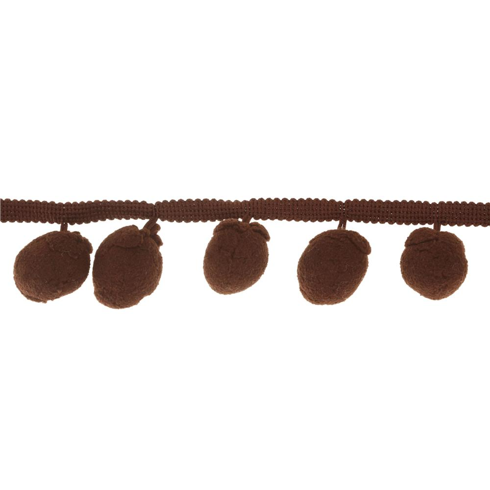 Riley Blake 1 1/4'' Jumbo Pom Pom Trim Brown