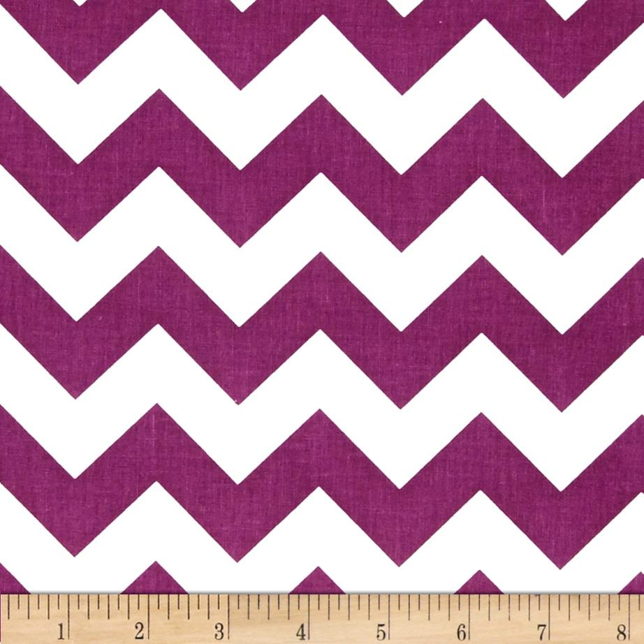 "Riley Blake 58"" Manufactures Cut Medium Chevron Purple"