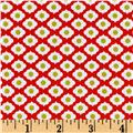 Riley Blake Dutch Treat Medallion Red