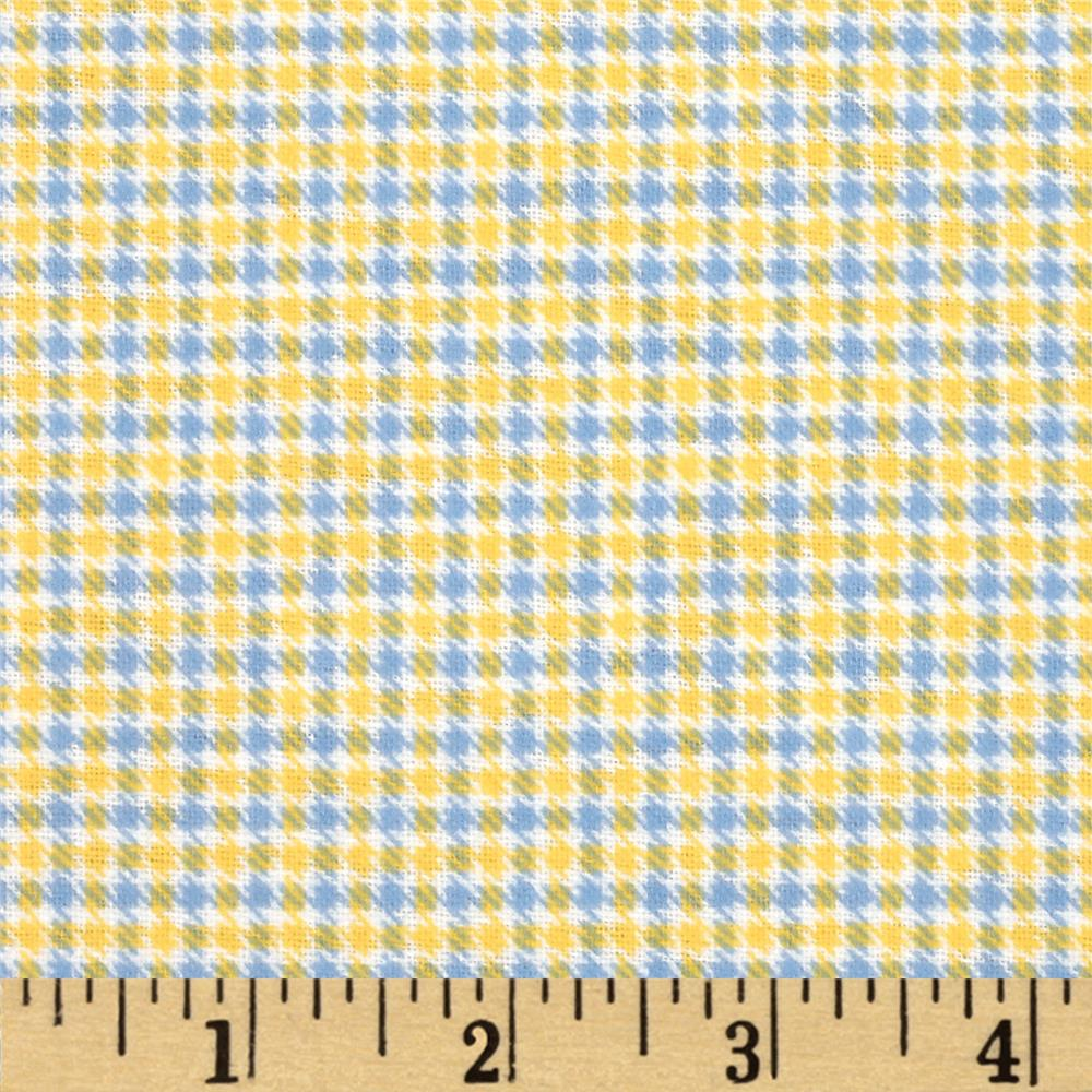 Aunt Polly's Flannel Checkered Blue/Yellow