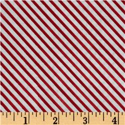 Snow Fun Diagonal Stripe Red