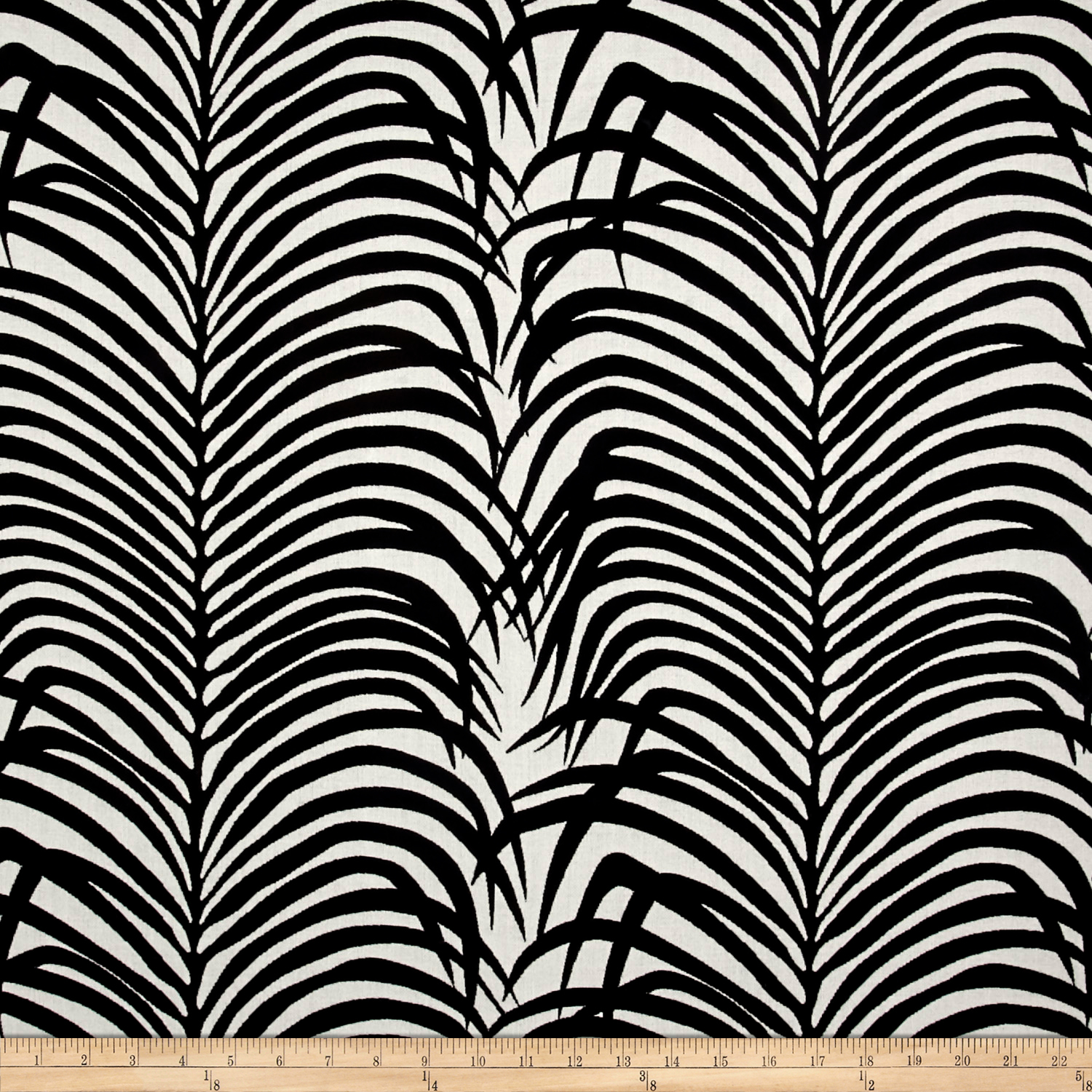 Schumacher Indoor/outdoor Zebra Palm Black Fabric