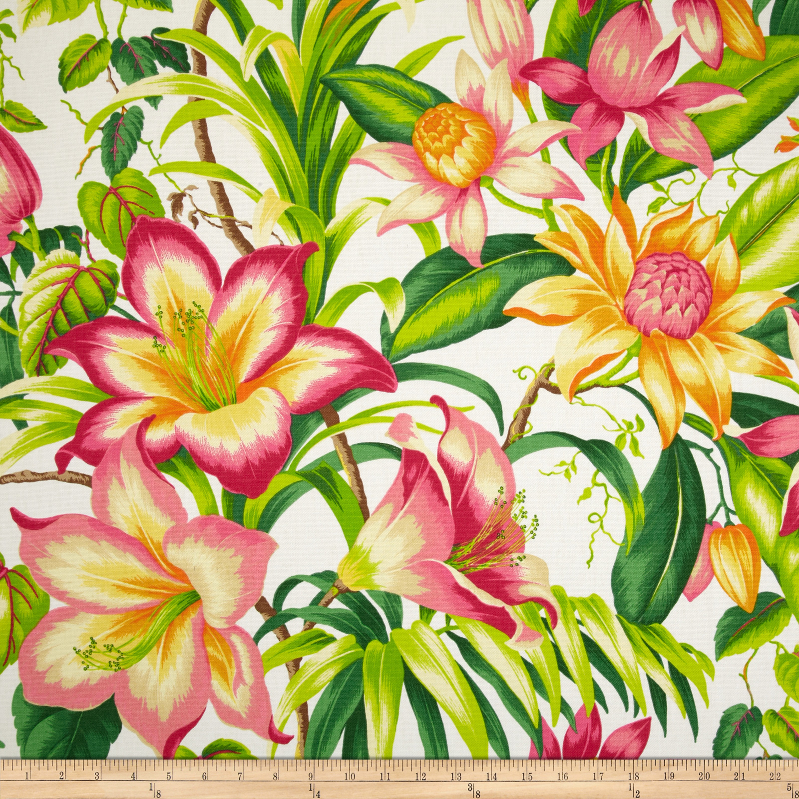 Tommy Bahama Home Botanical Glow Tangelo Fabric