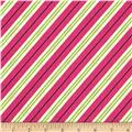 Michael Miller All the Trimmings Candy Cane Stripe Hollyberry