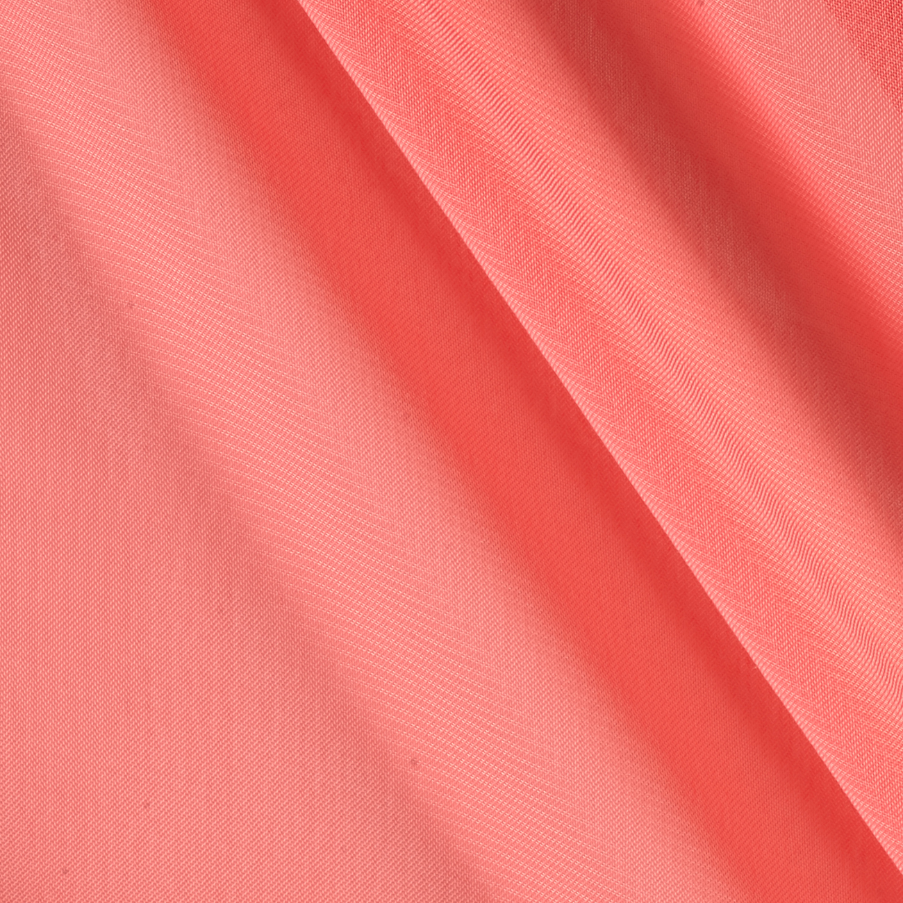 Chiffon Solid Coral Fabric by Ben in USA
