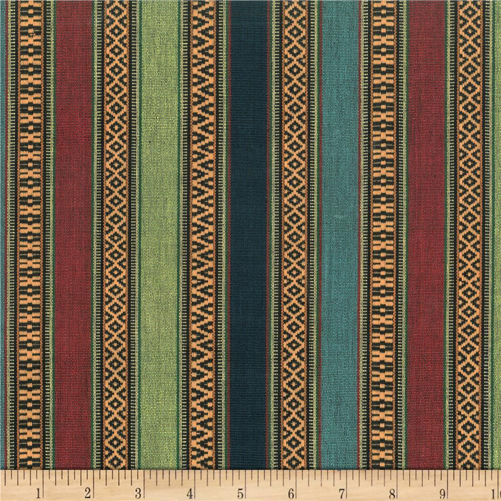 Laura & Kiran Southwest Stripes Aztec Blue Multi
