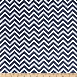 Minky Cuddle Mini Chevron Navy/Snow