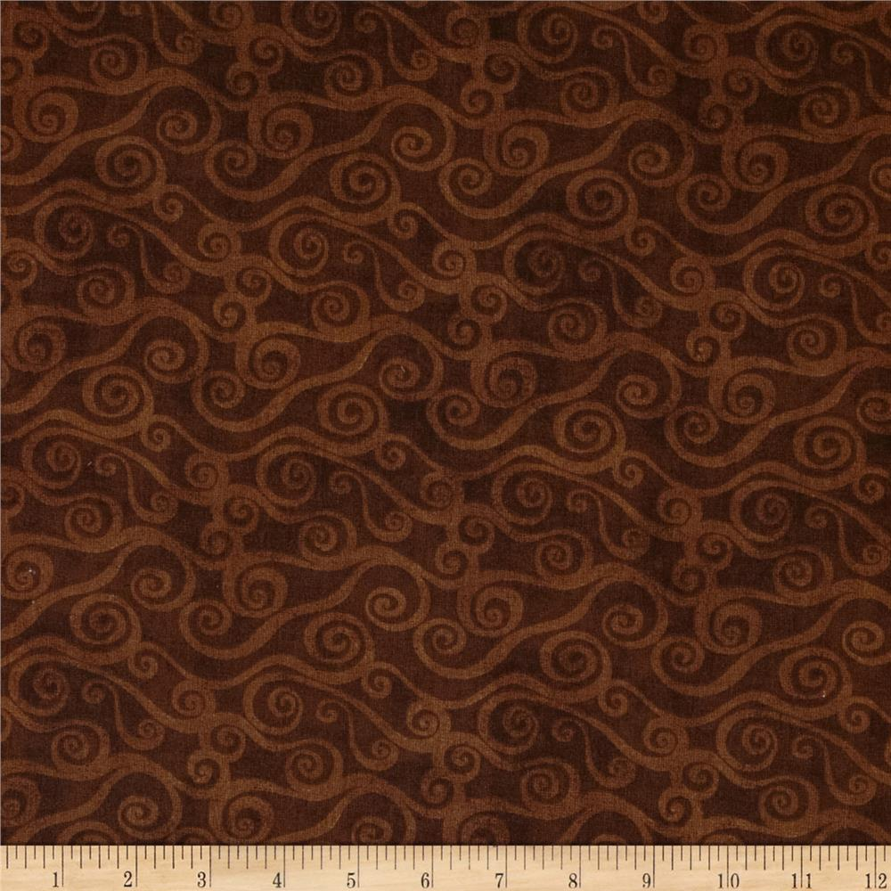 108 Quot Wide Quilt Back Swirly Scroll Brown Discount