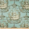 Richloom Sweet William Toile Twill Aqua