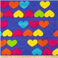 Simply Rainbow Hearts Purple/multi