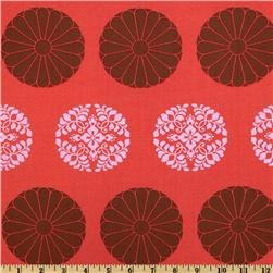 Amy Butler Cameo Pressed Flowers Carmine Fabric