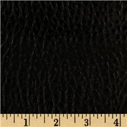 Faux Leather Boca Black Fabric