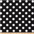 "Riley Blake 108"" Wide Medium Dot Black"