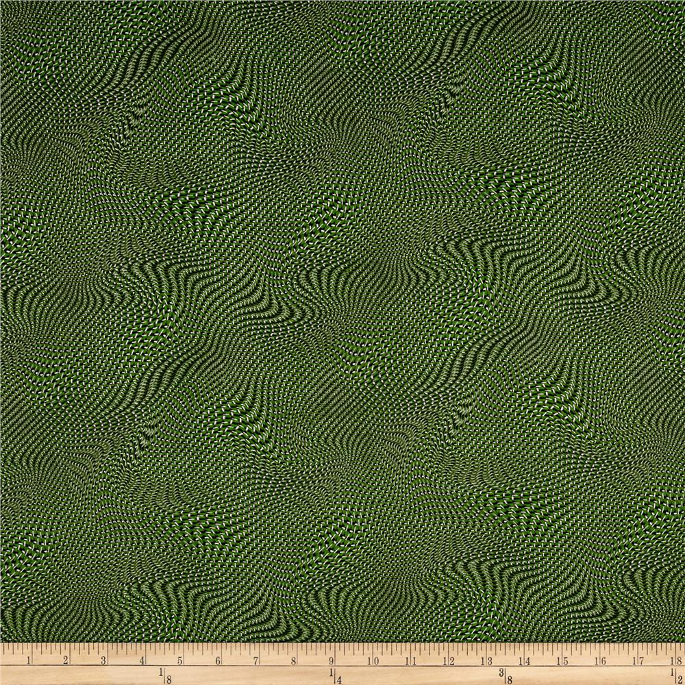 Silver Circuits Metallic Net Green