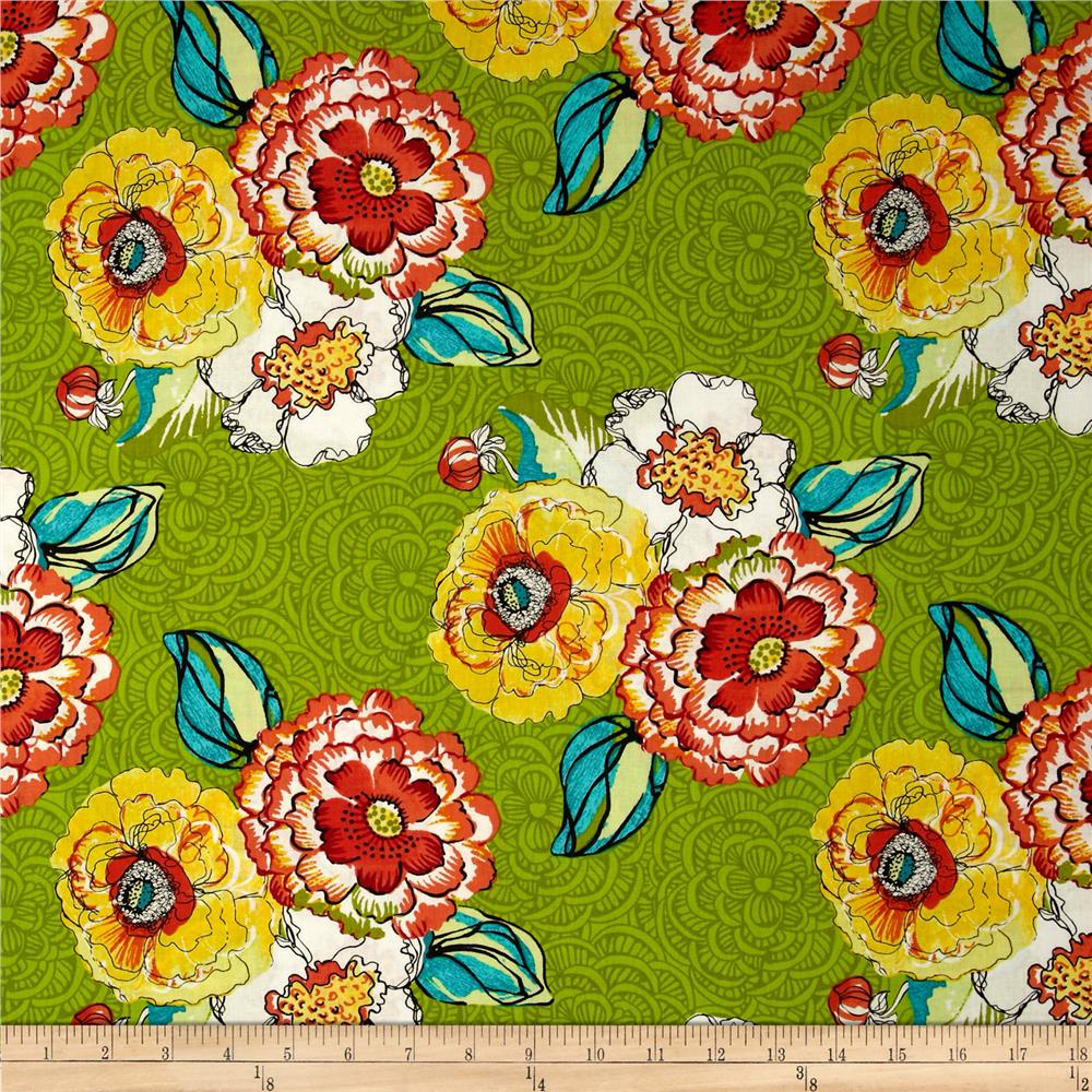 Cha Cha Large Floral Green