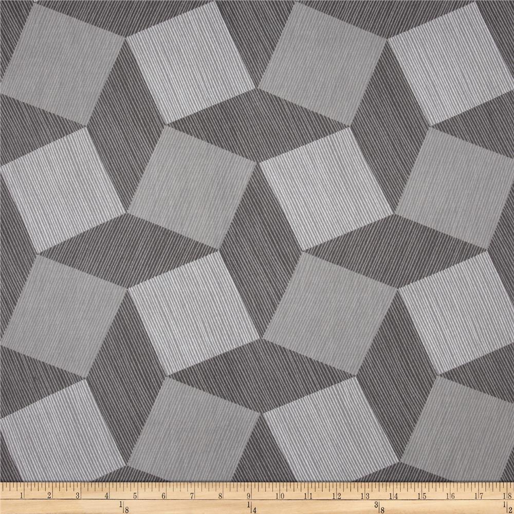 "Michael Miller Luxe 108"" Wide Back Tumble Blocks Gray"