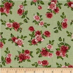 Tossed Roses Light Green