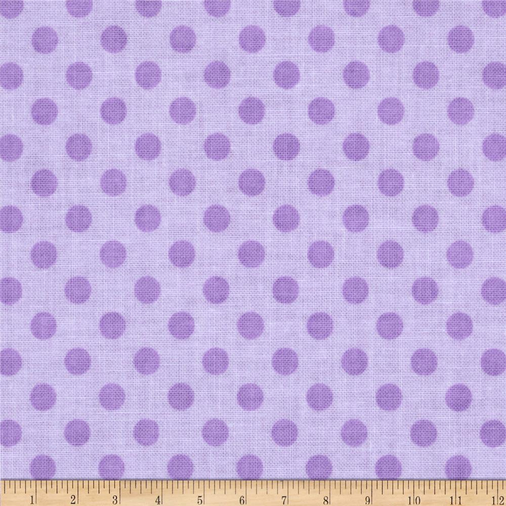 Riley Blake Small Dots Tone on Tone Lavender