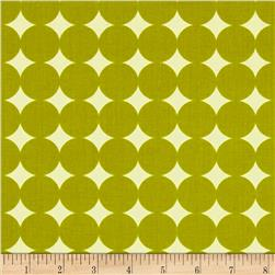Heather Bailey True Colors Mod Dot Olive Fabric