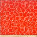 Riley Blake Four Corners Stretch Jersey Knit Circles Coral