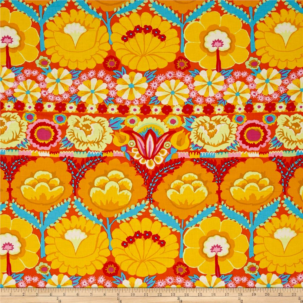 Artisan by Kaffe Fasset Embroidered Flower Yellow