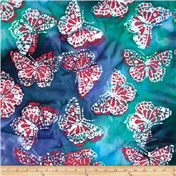 Indian Batik Caledonia Butterfly Blue