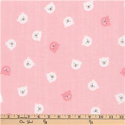 Kaufman Comfy Double Gauze Bears Pink