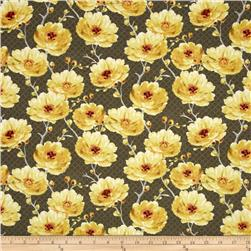 Sunshine Medium Floral Medium Gray