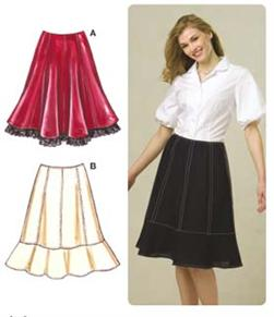 Kwik Sew Eight-Gore Skirts Pattern
