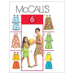 McCall's Children's'/Girls' Tops Dresses and Shorts Pattern M5419