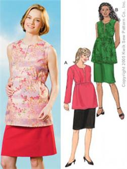 Kwik Sew Maternity Tops and Skirt Patterns