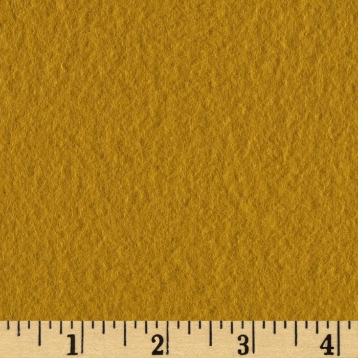 Wintry Fleece Solid Mustard