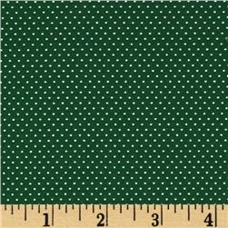 Pin Dot Forest Green