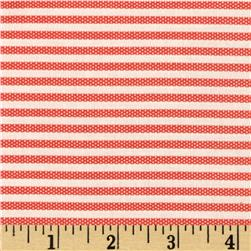 Animal ABCs Small Stripe Organic Cotton Light Tomato