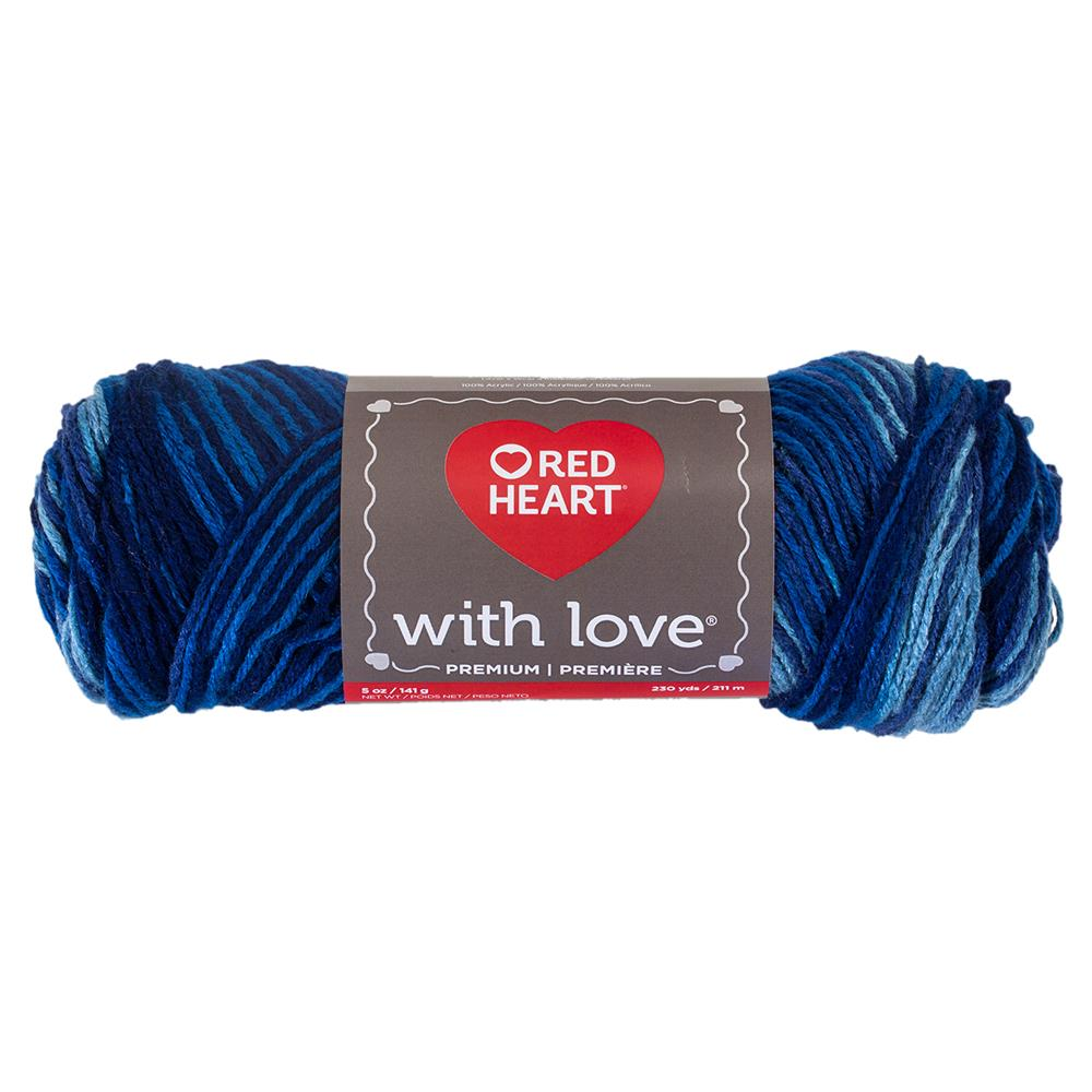 Red Heart With Love Variegated 1937 Deep Blues
