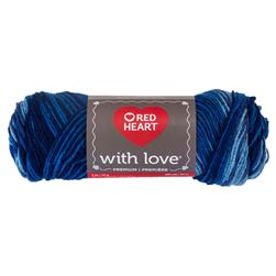 Red Heart Yarn With Love Variegated 1937 Deep Blues