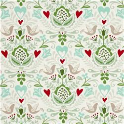Moda North Woods Rosemaling Snow-Multi