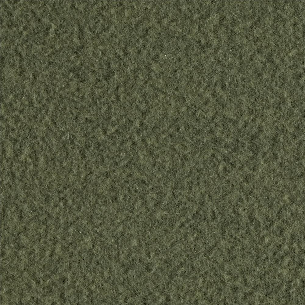 Warm Winter Fleece Solid Army Green Fabric