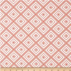 Metro Living Box Stripe Orange Fabric