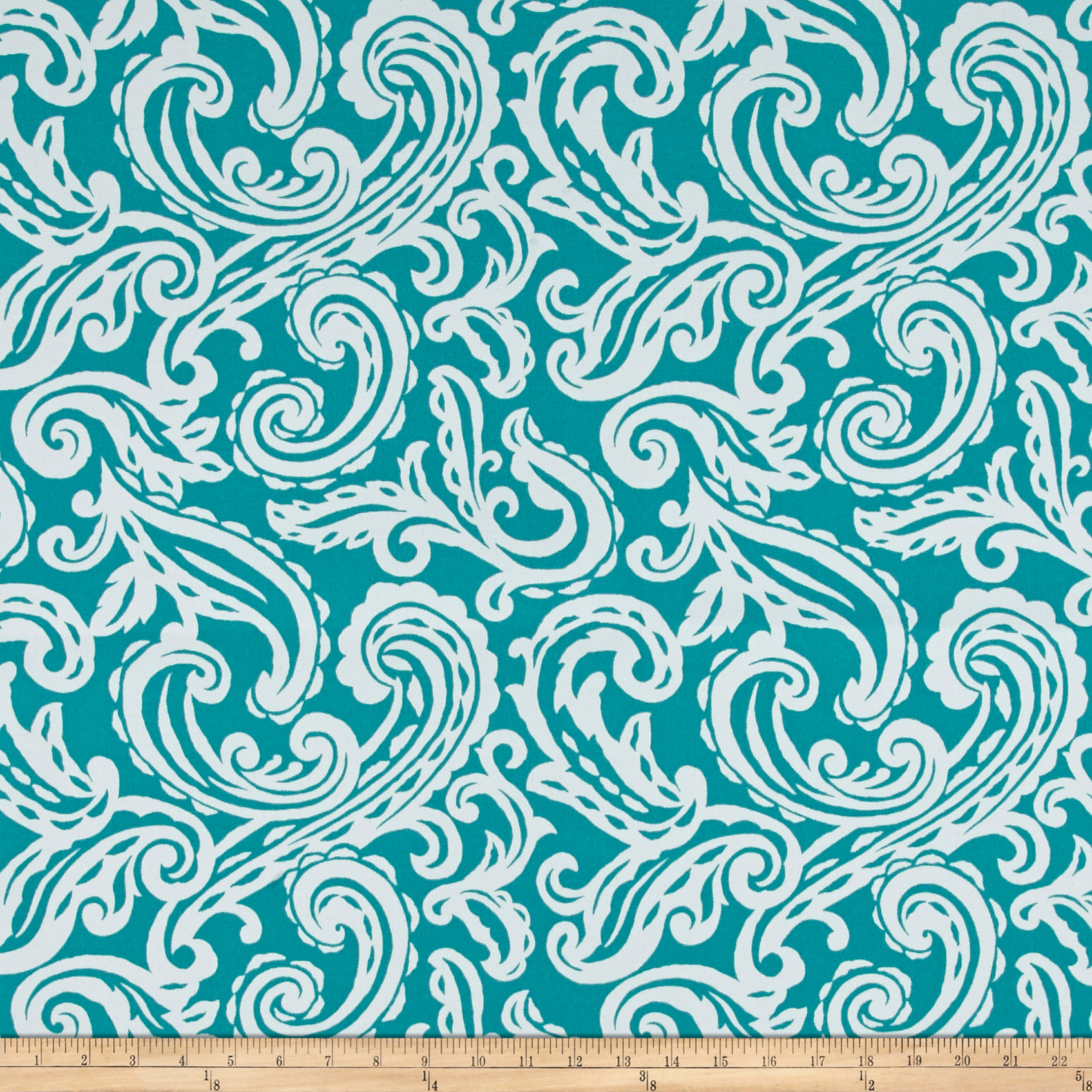Terrasol Outdoor Colima Teal Fabric by Tempro in USA
