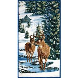 Winter Stillness Craft Deer Panel Multi