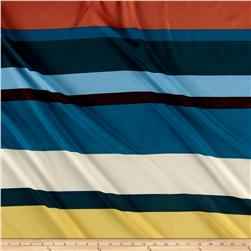 Crepe de Chine Oversized Stripes Yellow/Peach/Blue/Green