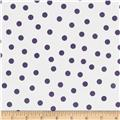 Oil Cloth Polka Dot White/Purple