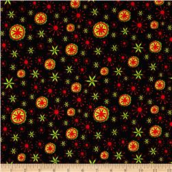 Holiday Dreams Snowflakes Black
