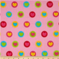 Simply Sweet Hearts In Circle Pink