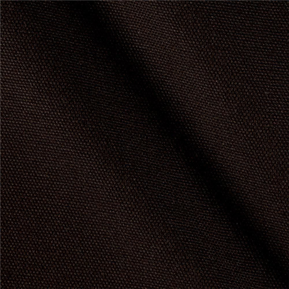 Kaufman Big Sur Canvas Solid Dark Brown